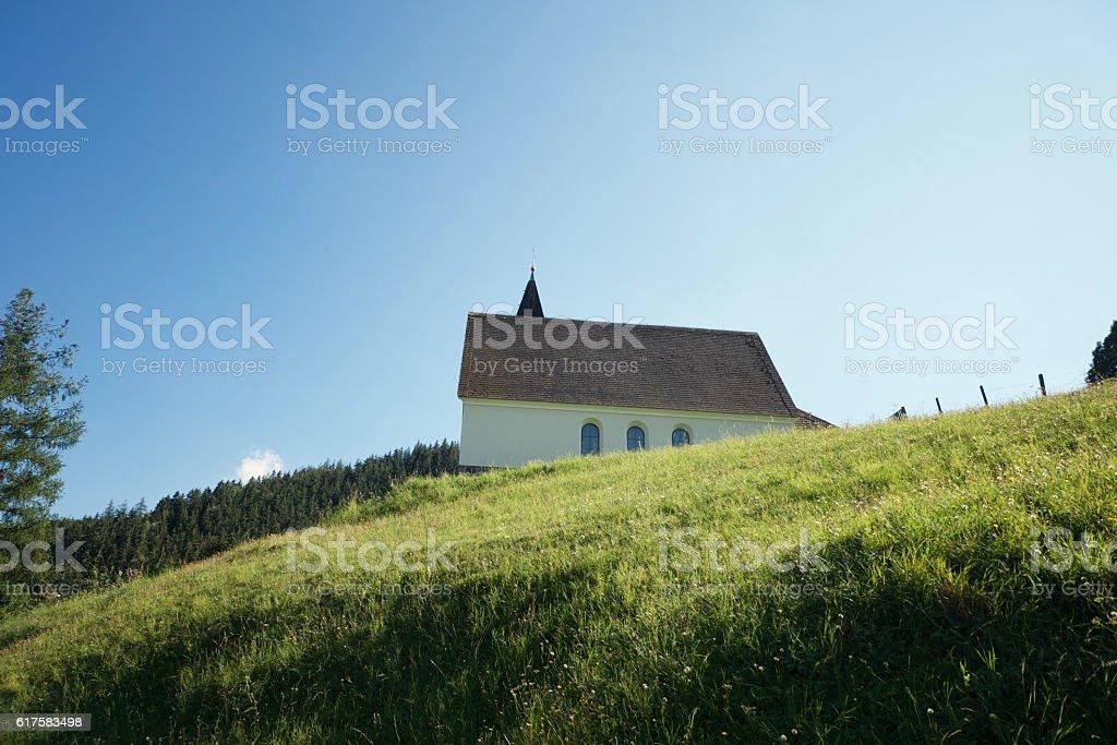 Kirche im Grünen stock photo
