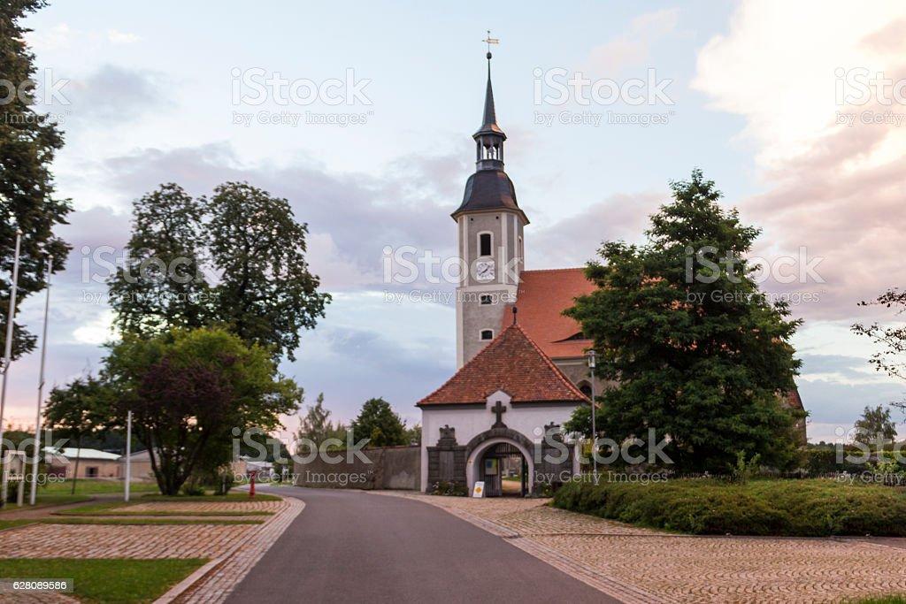 Kirche in Diehsa stock photo