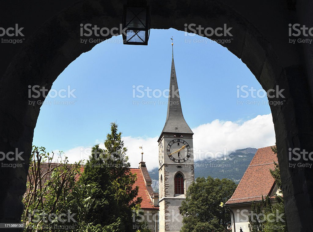 Kirche St. Martin,  Chur, Graubünden, Switzerland royalty-free stock photo