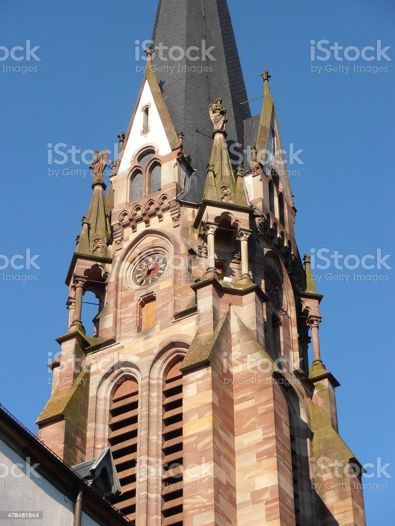 Kirchenturm stock photo
