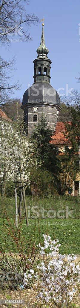 Kirchturm Bad Schandau stock photo