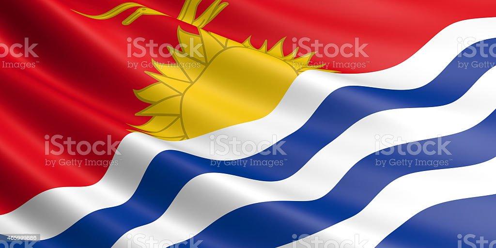 Kiribati flag. royalty-free stock photo