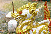 Kirin statue located inside the temple Thailand.