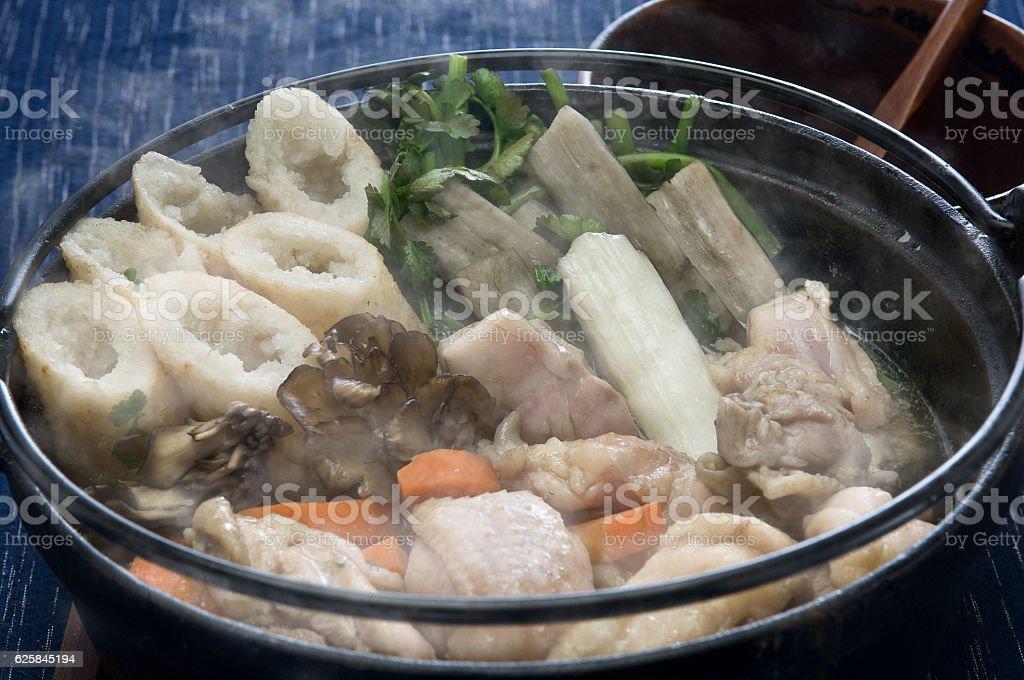 Kiritanpo Nabe Akita Regional Cuisine stock photo