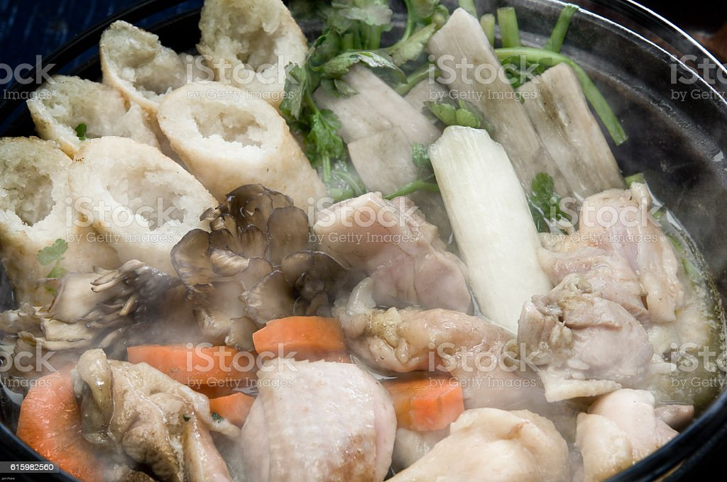 Kiritanpo pot Akita local cuisine stock photo