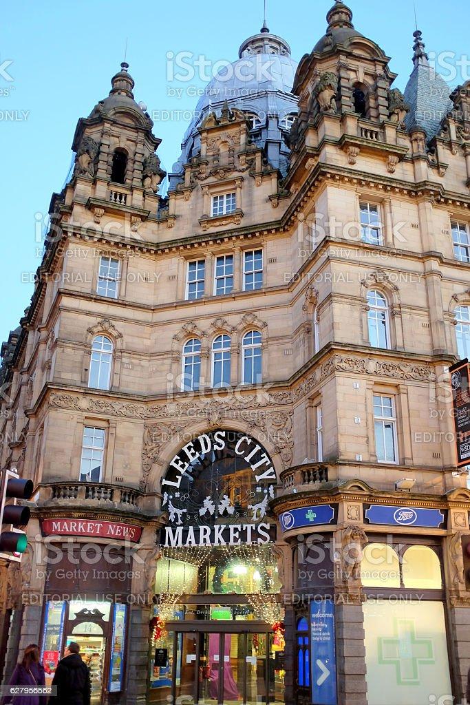 Kirkgate Market, Leeds. stock photo
