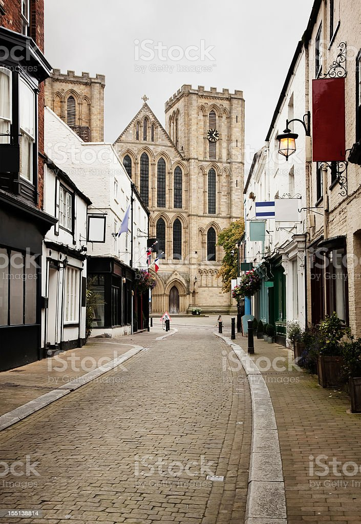 Kirkgate Street in Ripon UK royalty-free stock photo