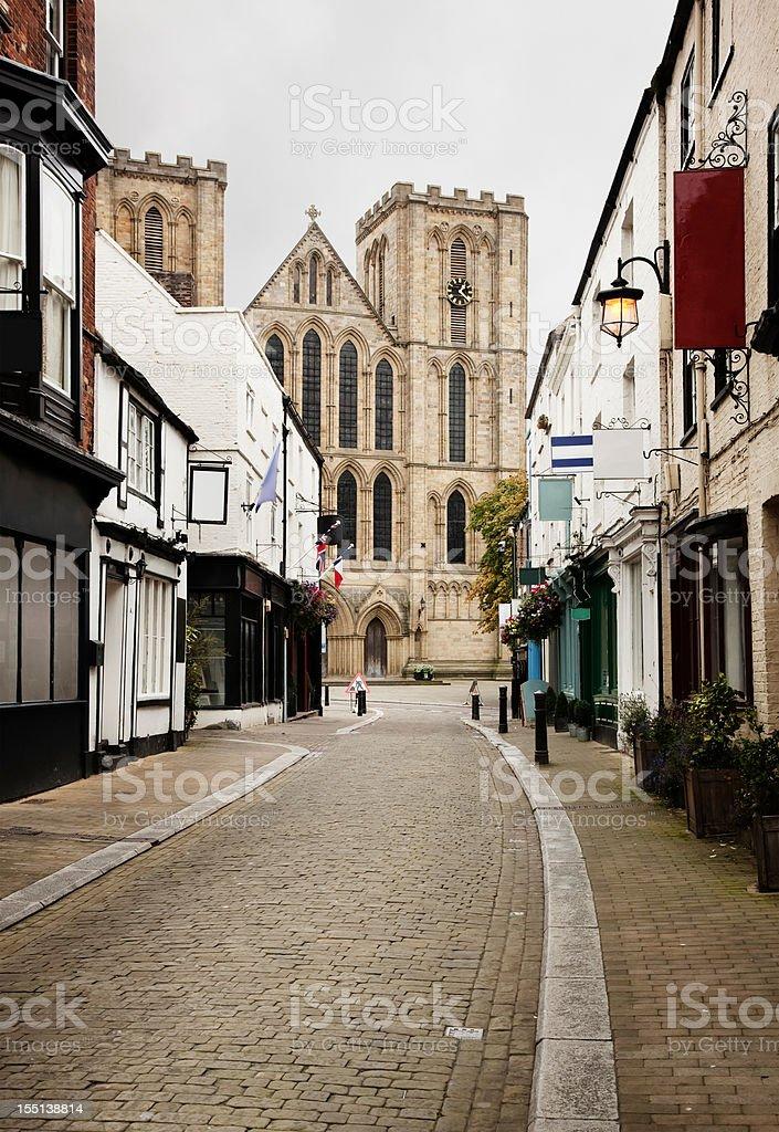 Kirkgate Street in Ripon UK stock photo