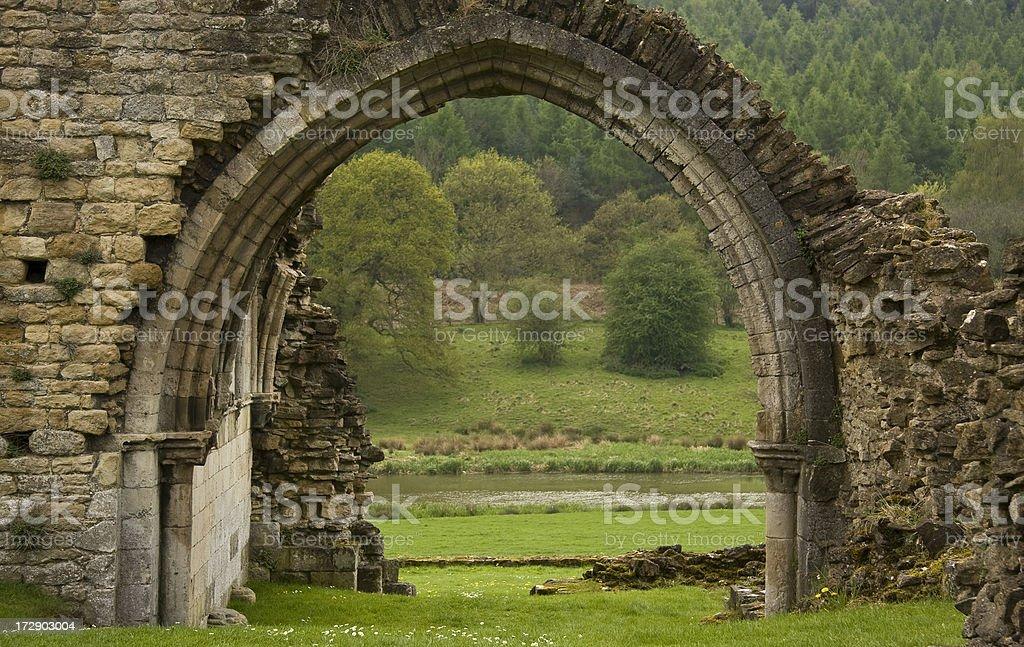 Kirkham Abbey stock photo
