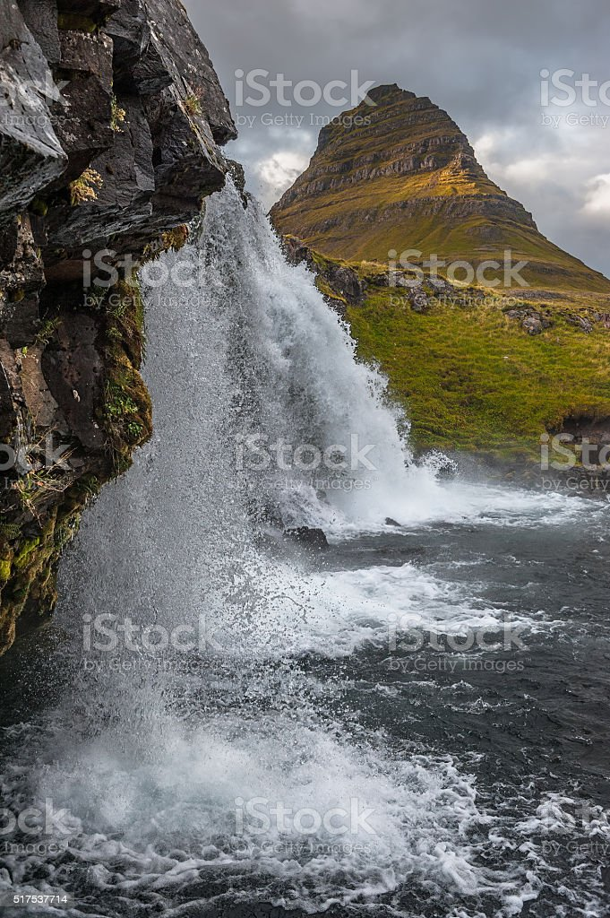 Kirkjufell 2 (A different angle) stock photo