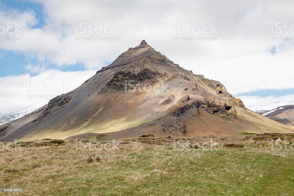 Kirkjufell close to Arnastapi stock photo