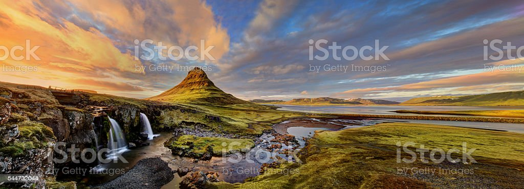Kirkjufell, Iceland stock photo