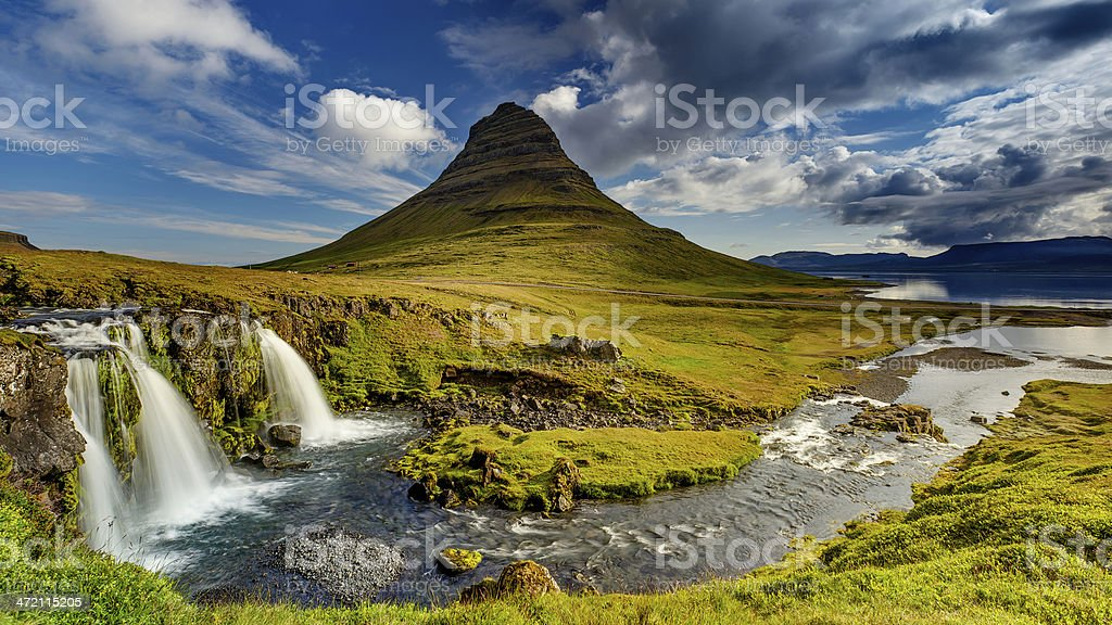 Kirkjufell in Iceland stock photo