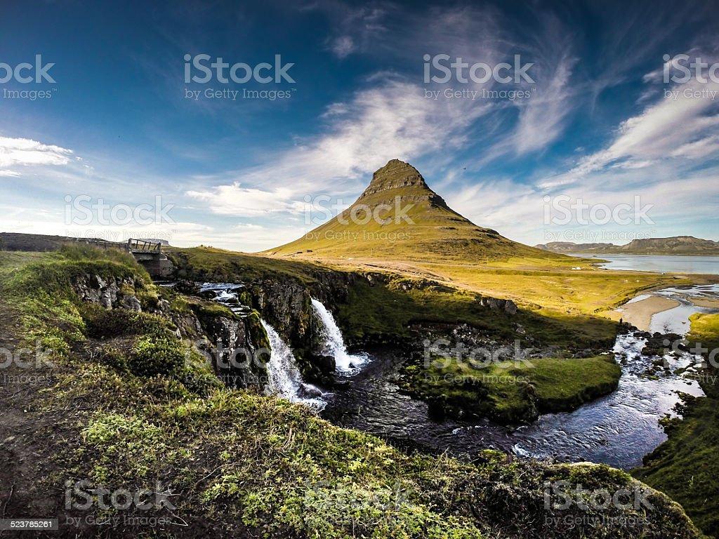 Kirkjufell Landscape color - North Iceland stock photo