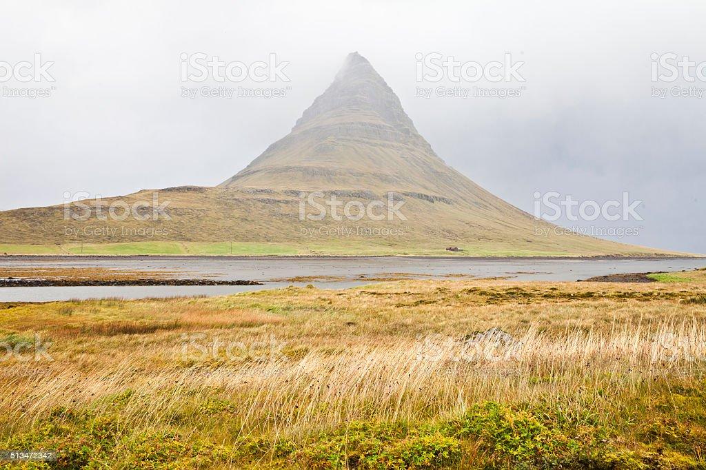 Kirkjufell mountain, Iceland stock photo