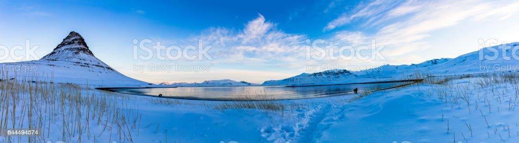 Kirkjufell Winter Landscape stock photo