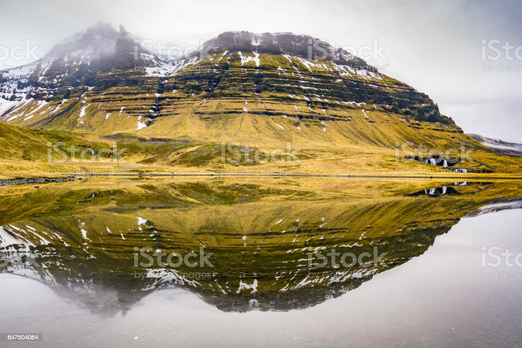 Kirkjufellsfoss stock photo