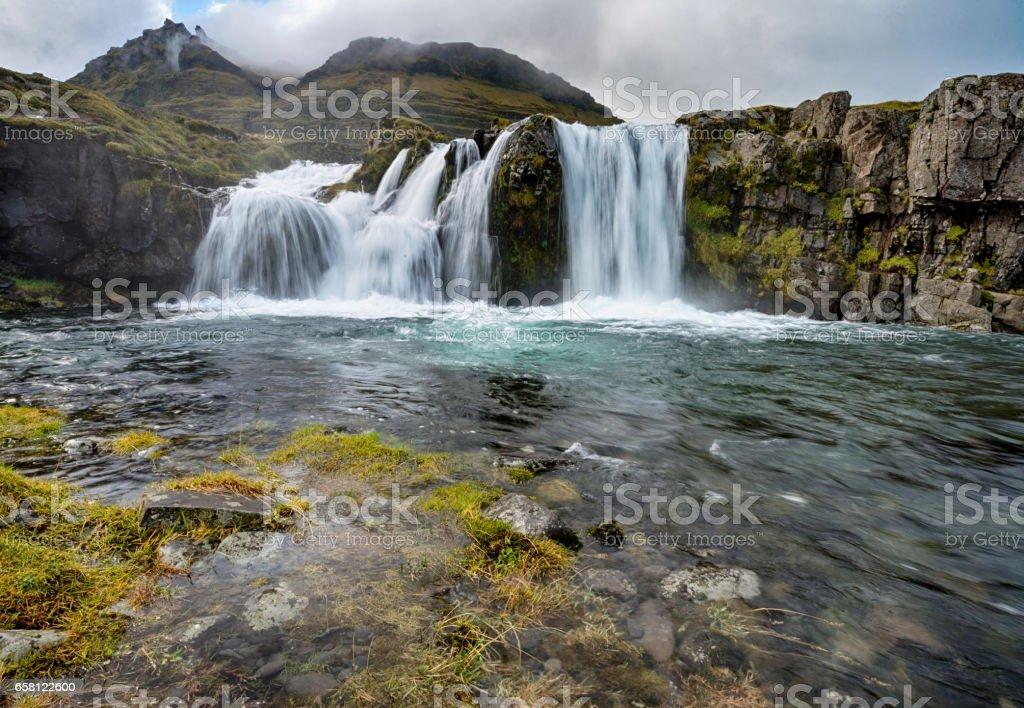 Kirkjufellsfoss waterfall in Iceland stock photo
