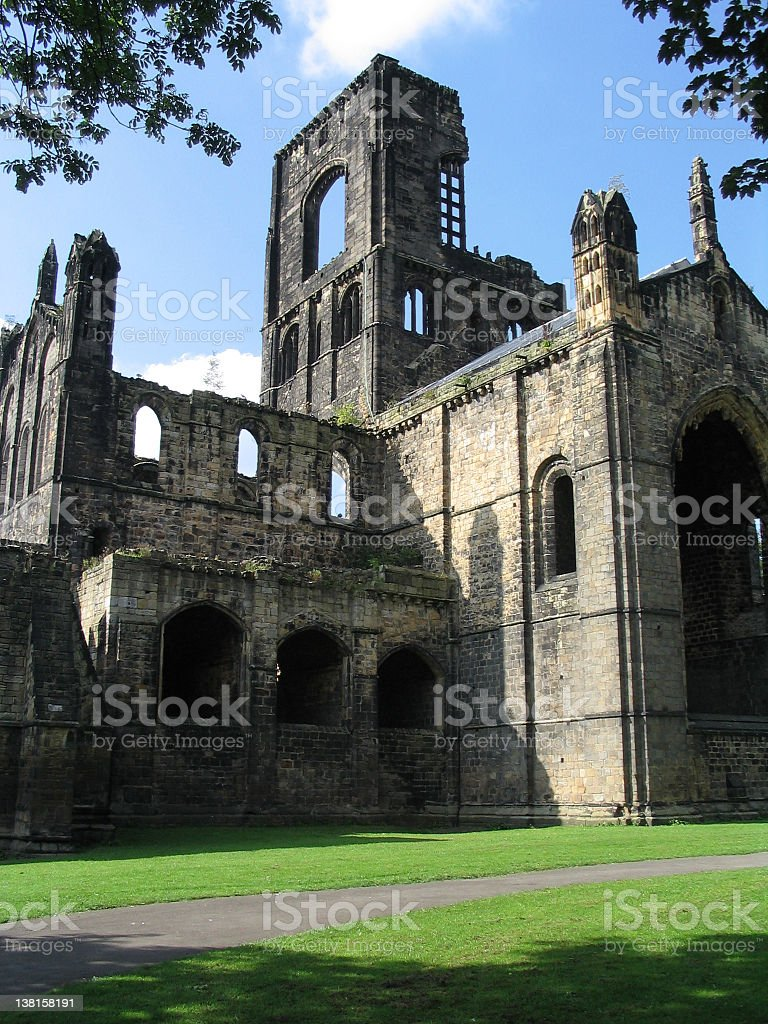 Kirkstall Abbey in Leeds royalty-free stock photo