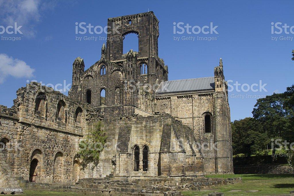 Kirkstall abbey stock photo