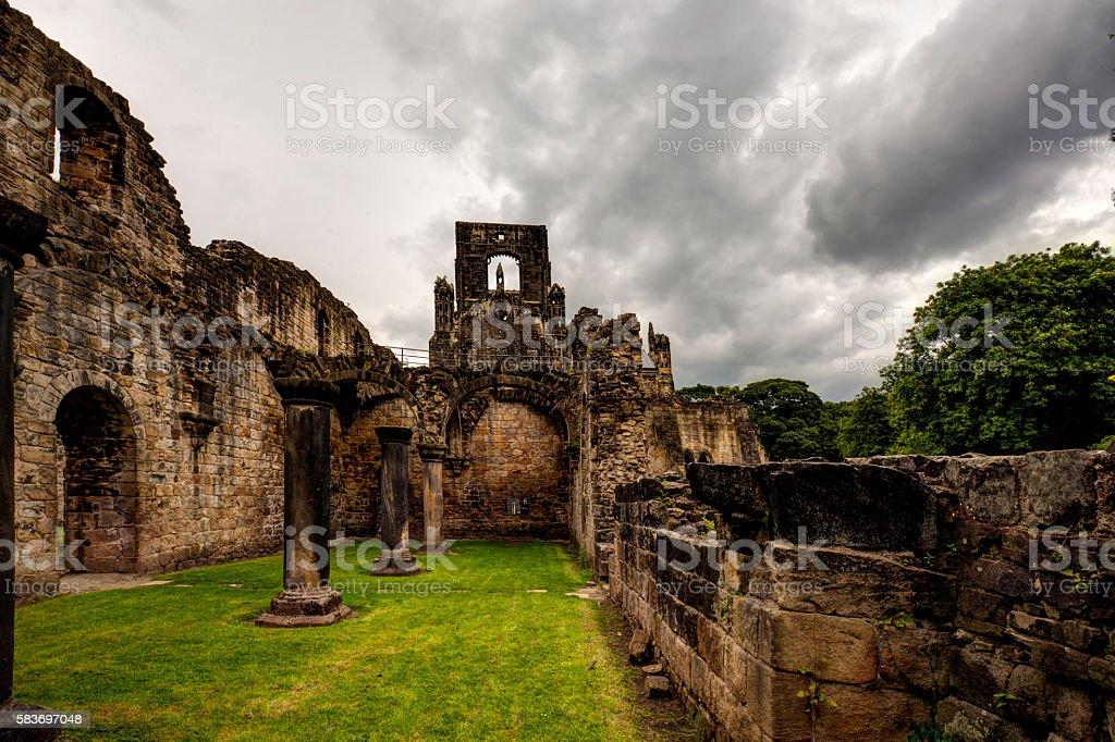 Kirkstall Abbey. stock photo