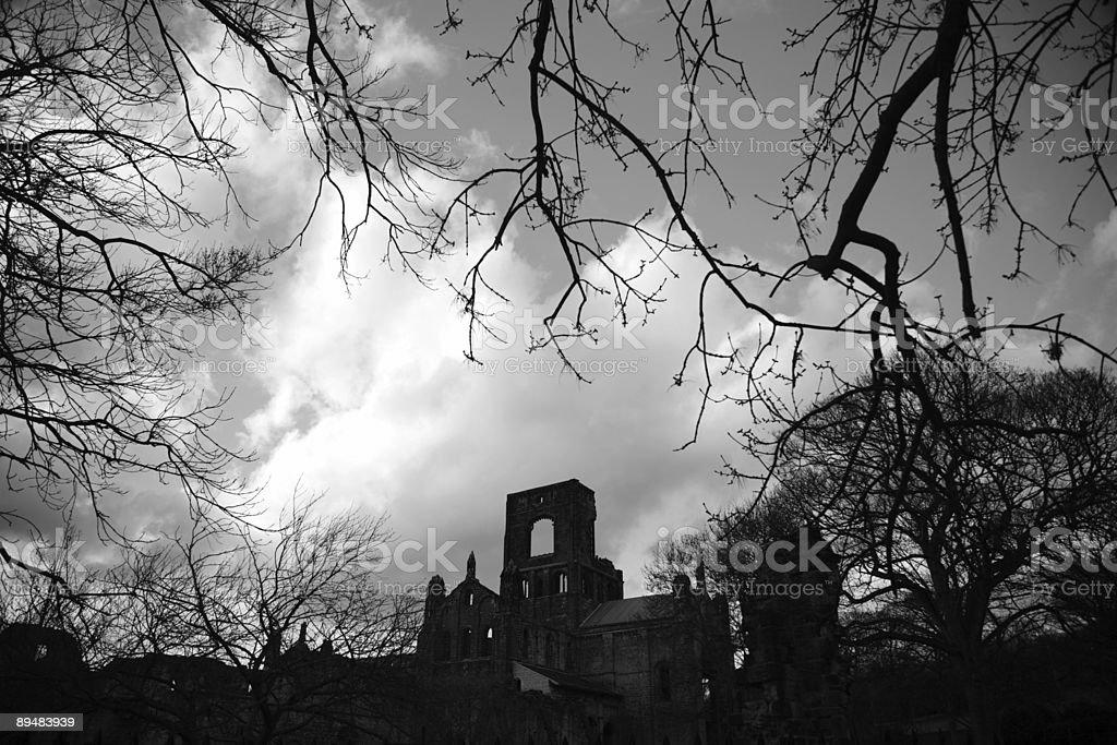 Kirkstall Abbey royalty-free stock photo