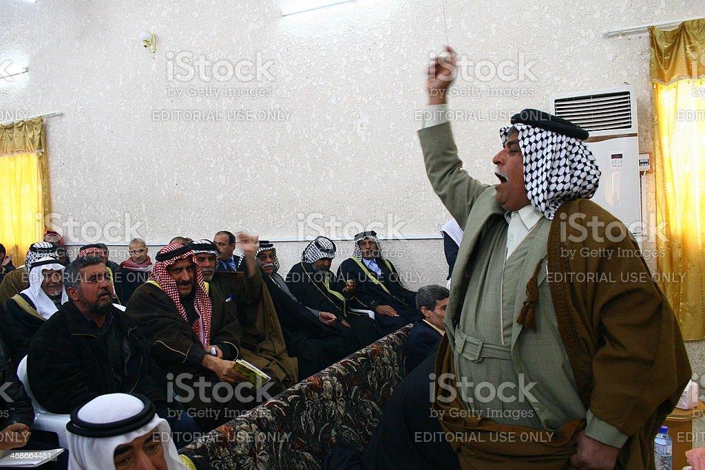 Kirkuk Arab Protest royalty-free stock photo