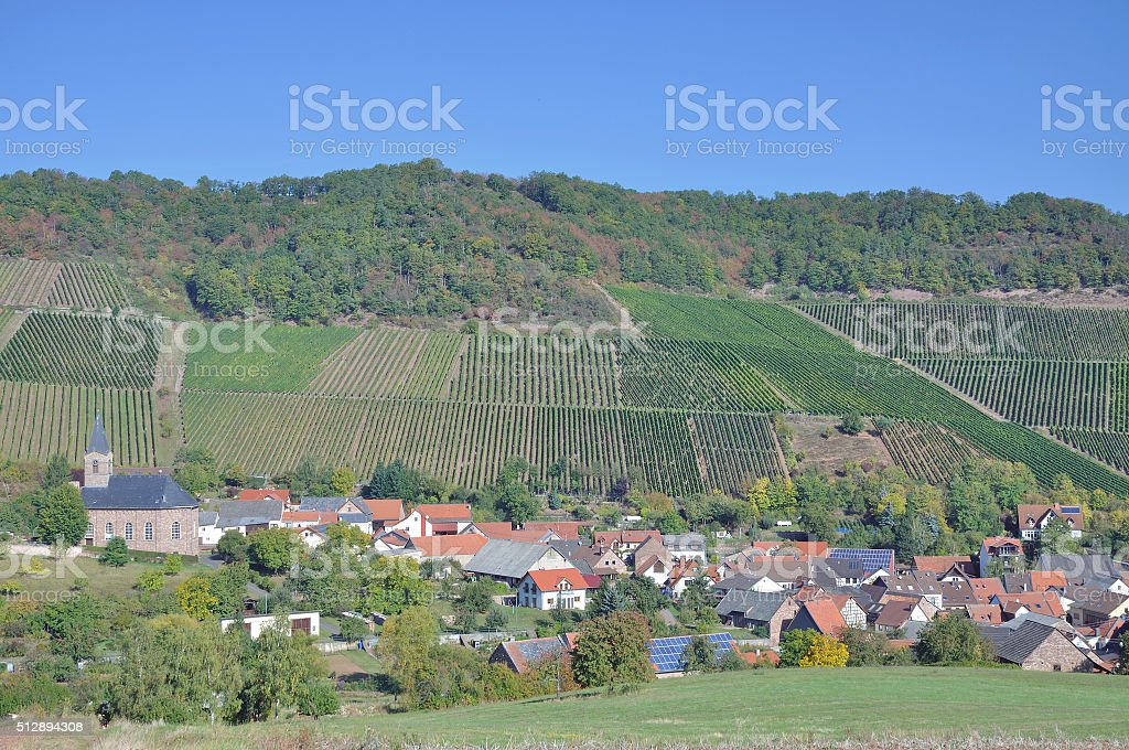 Kirschroth,Nahe Wine region,Germany stock photo
