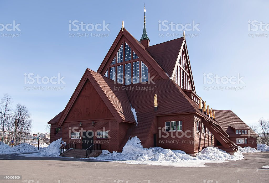 Kiruna churc royalty-free stock photo