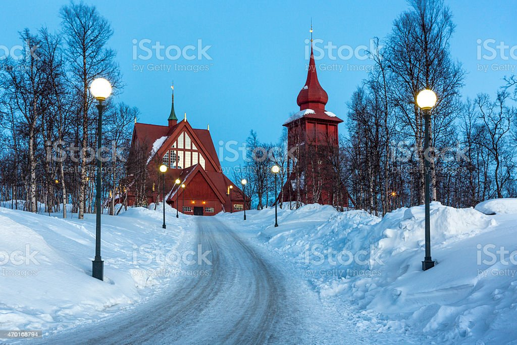Kiruna Church stock photo