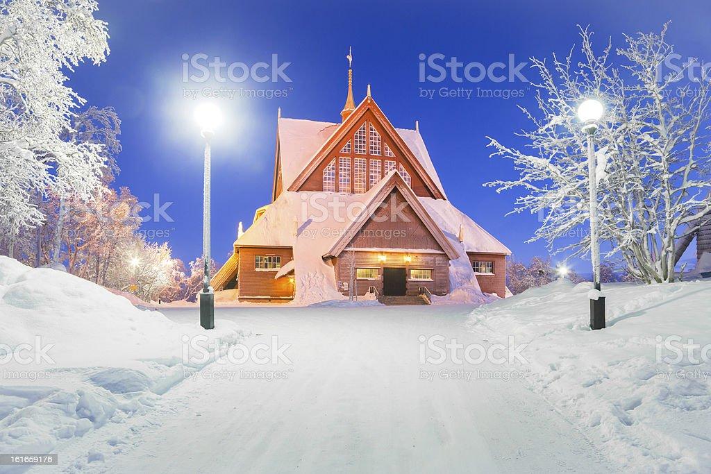 Kiruna church Sweden stock photo