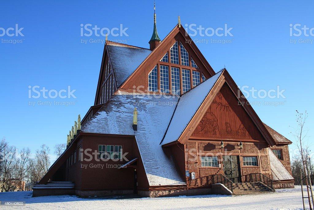 Kiruna Church, Sweden stock photo