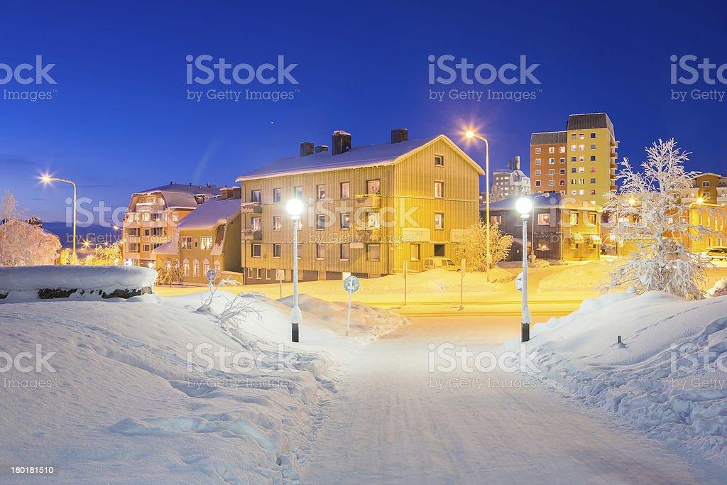 Kiruna Cityscape stock photo