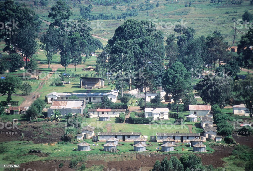 Kisoro town near the Virunga mountains, Uganda stock photo