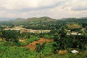 Kisoro town near the Virunga mountains, Uganda
