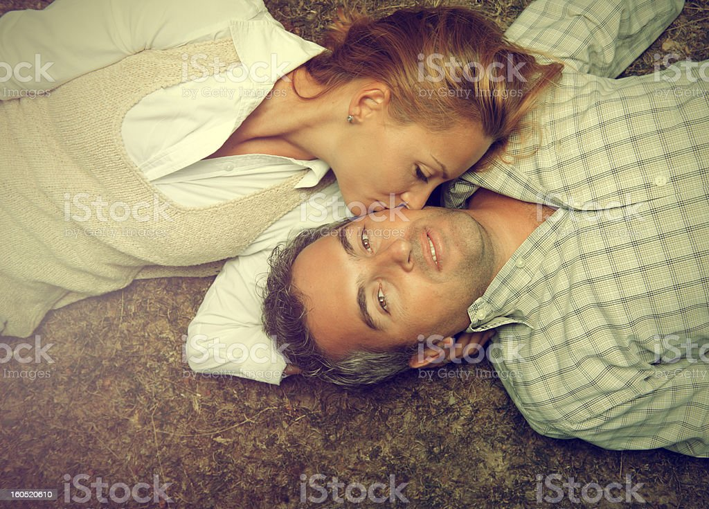 kiss and love royalty-free stock photo