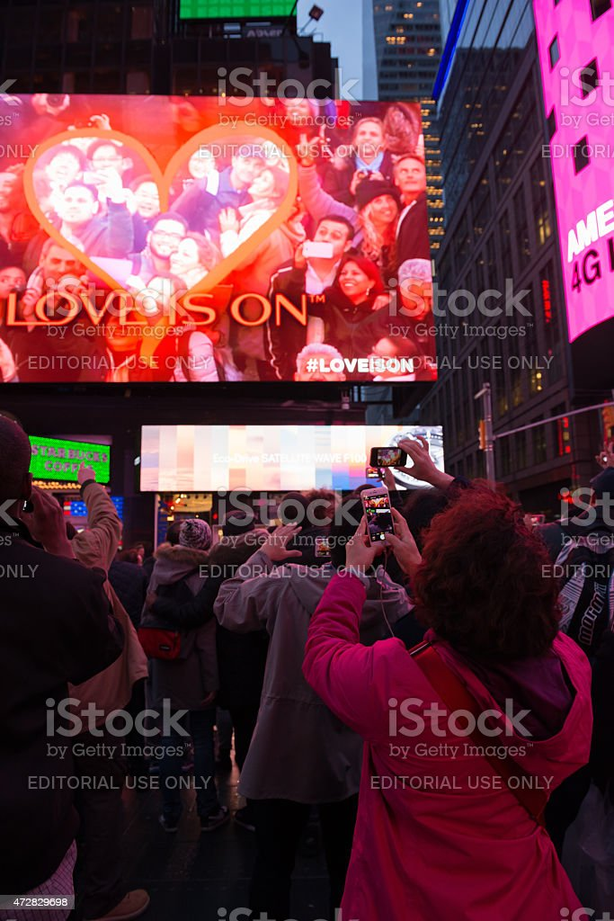 Kiss Cam stock photo