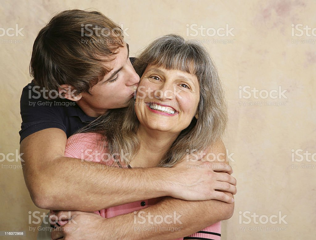 Kiss For Mother stock photo