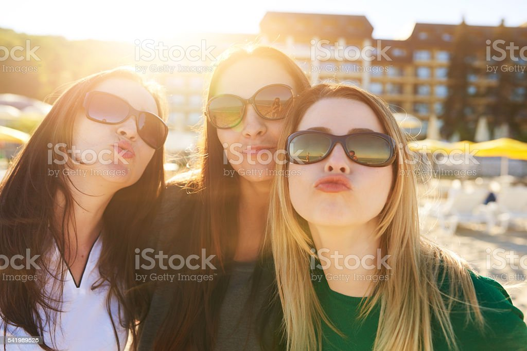 kiss from vacation stock photo
