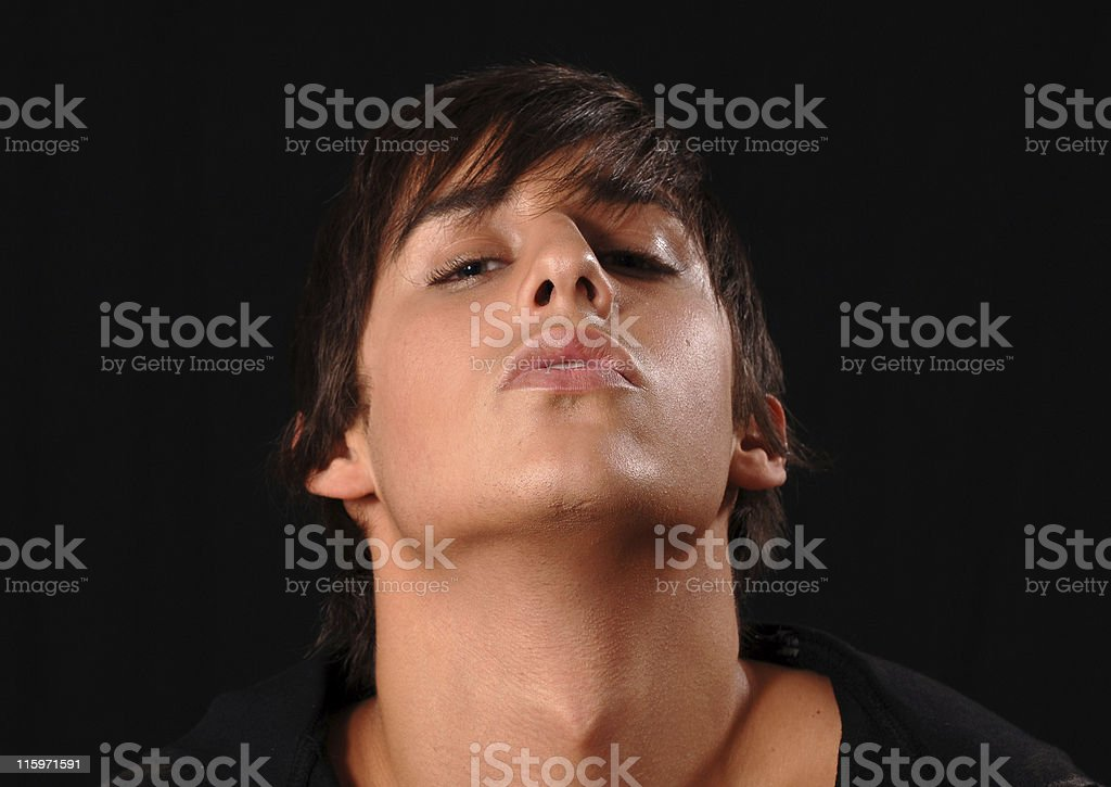 Kiss me royalty-free stock photo