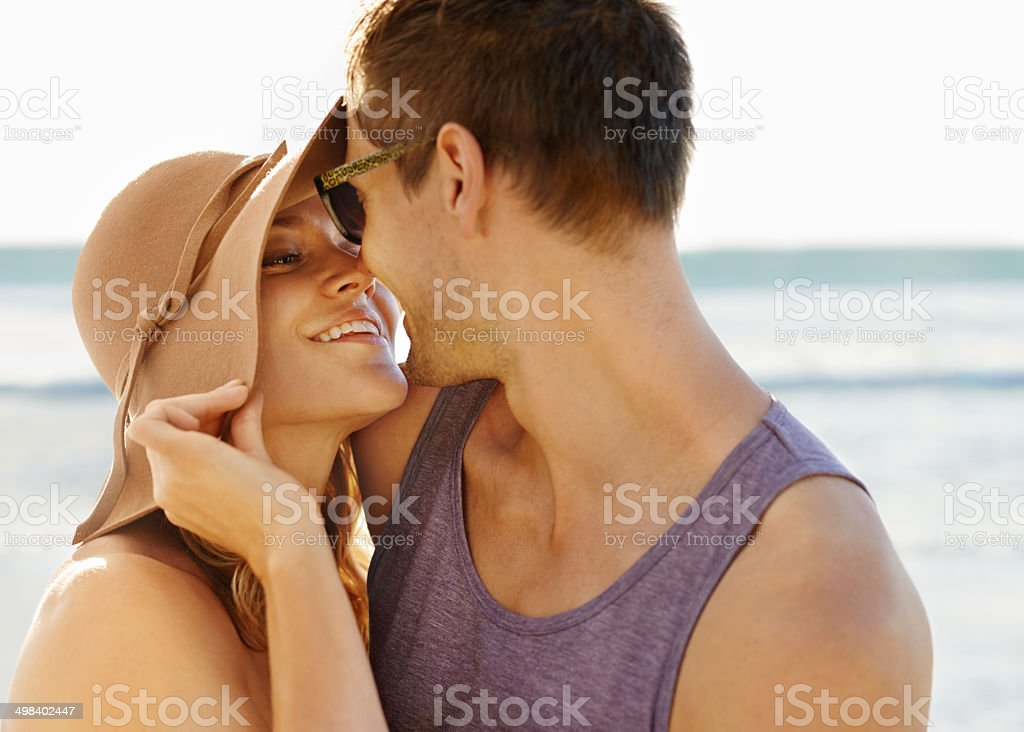 Kiss me quick stock photo