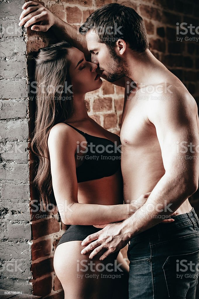 Kiss me right now. stock photo