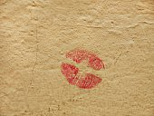 Kiss on a wall