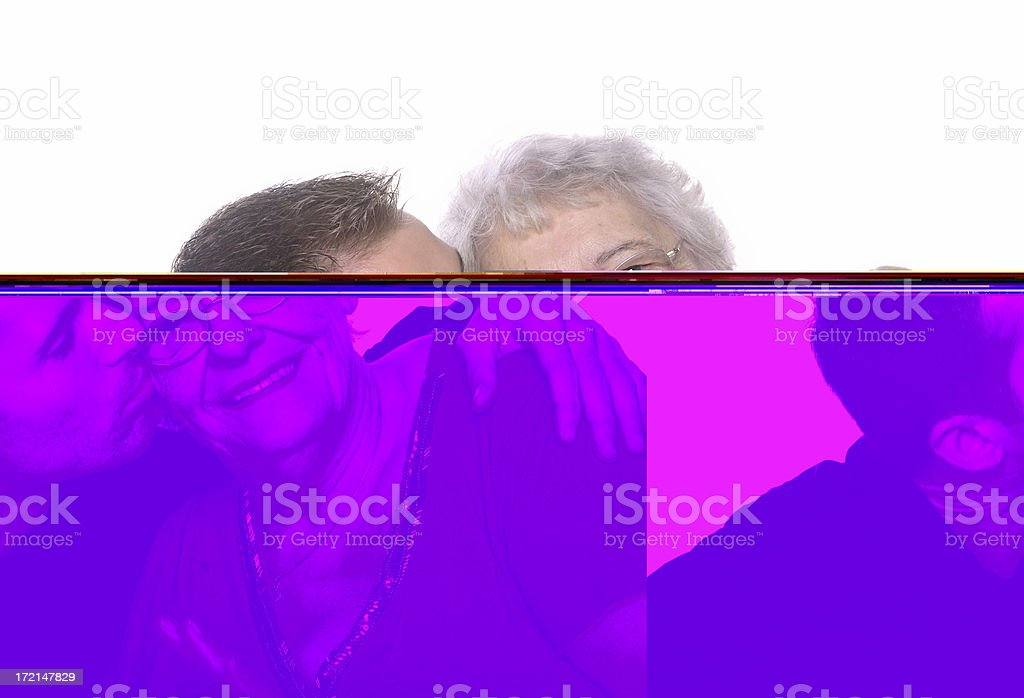 Kiss on the cheek. royalty-free stock photo