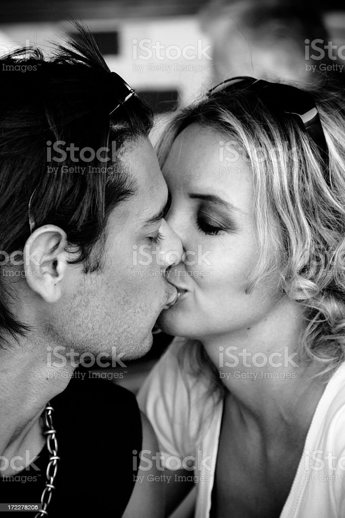 Kiss royalty-free stock photo
