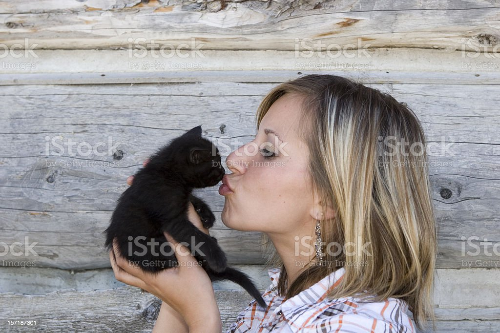 Kiss the Kitty stock photo