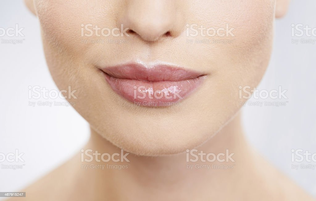 Kissable lips stock photo