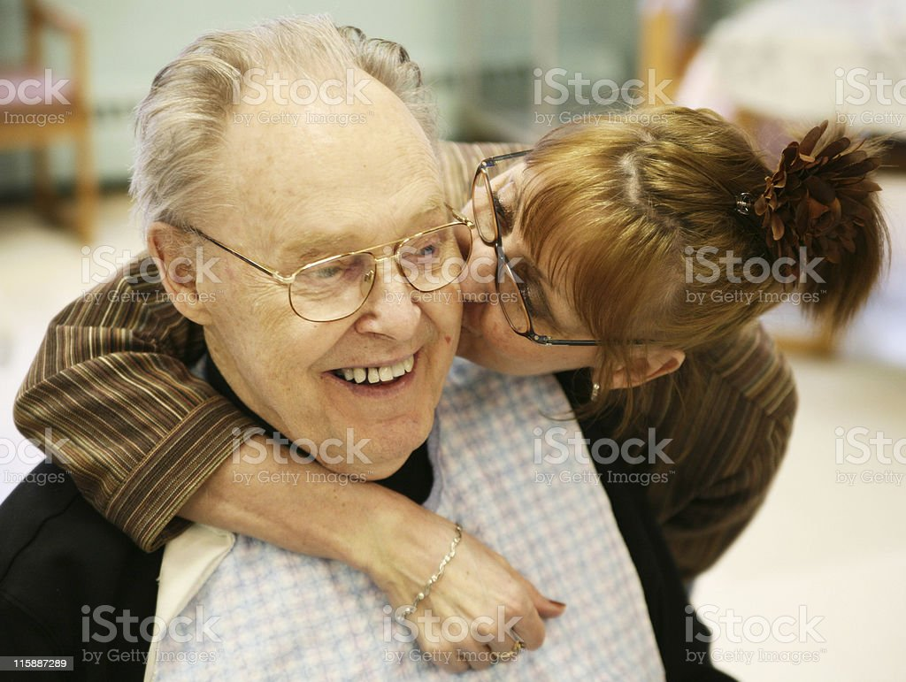 Kissed Father royalty-free stock photo