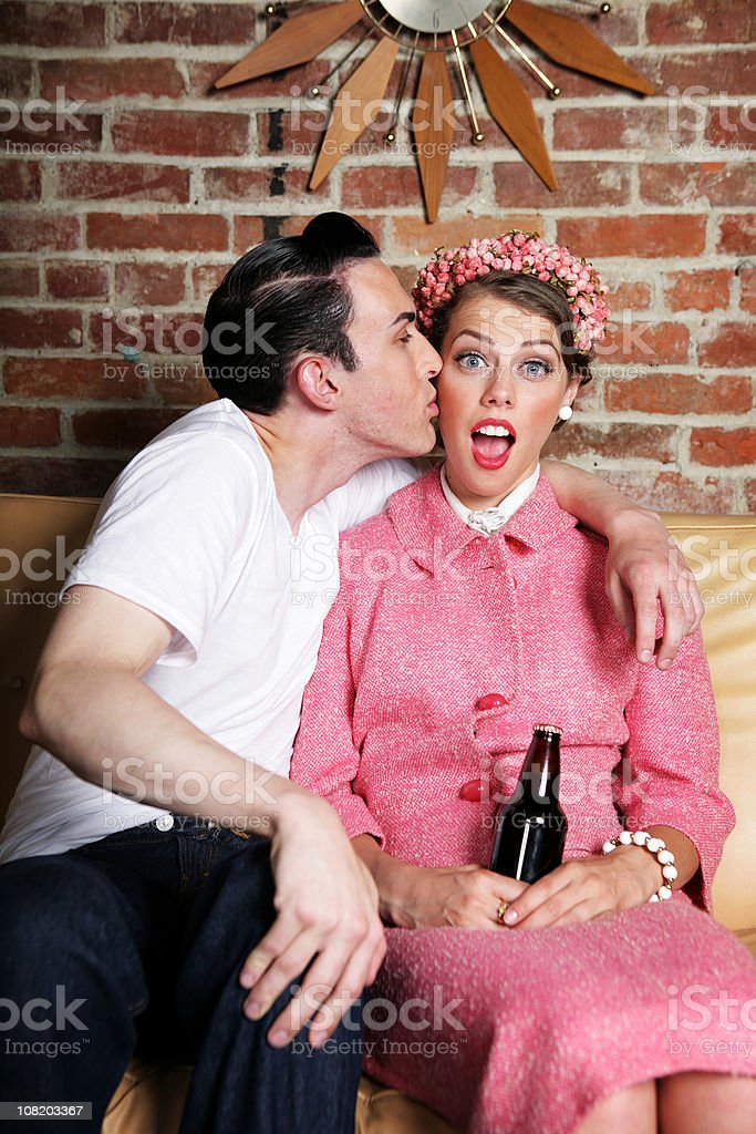 Kissed royalty-free stock photo