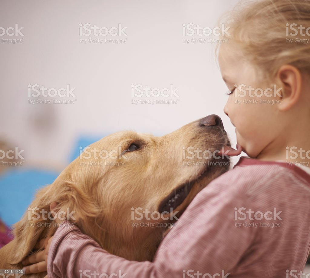 Kisses from my best friend stock photo